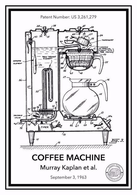 Kahve makinası patent posteri