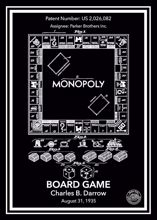 Monopoly patent posteri siyah