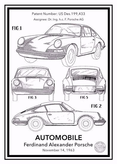 Porsche 911 Carrera Patent Posteri - Klasik